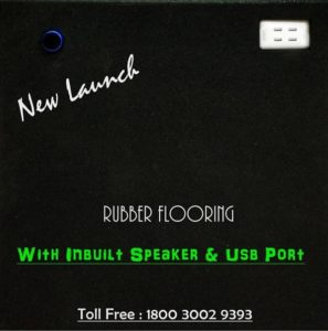rubber flooring with usb port & speakers